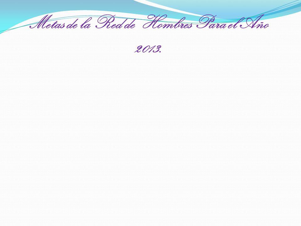 Metas de la Red de Hombres Para el Año 2013.