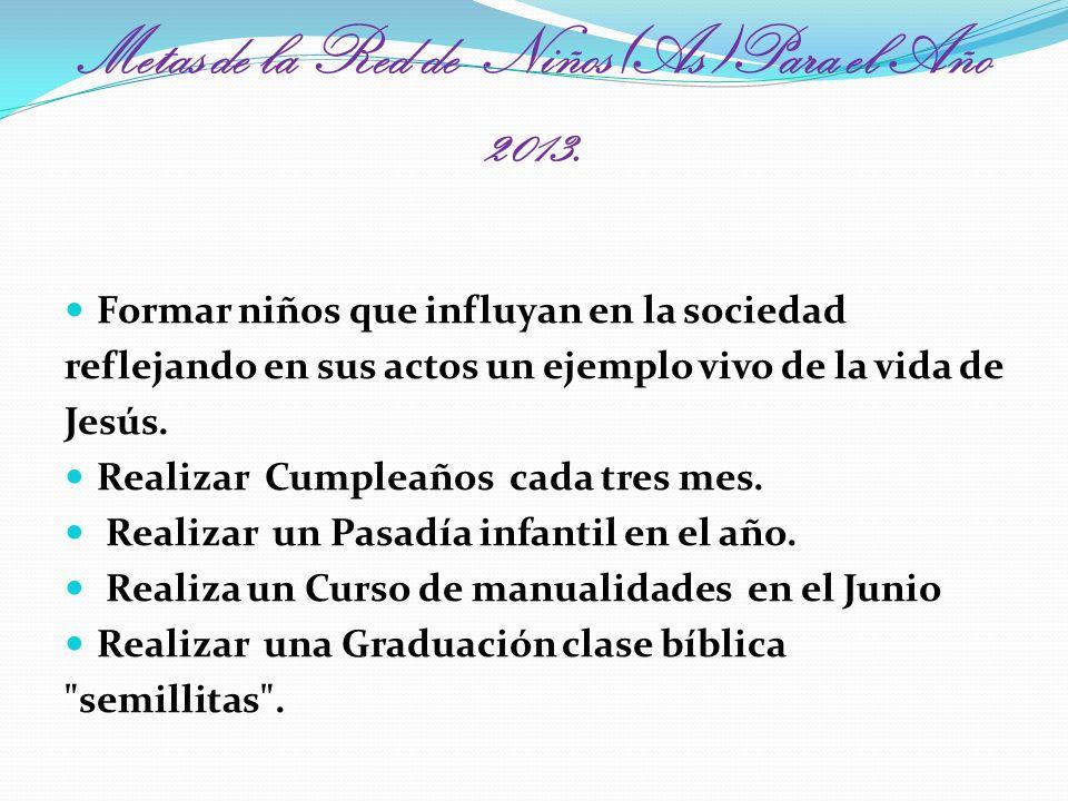 Metas de la Red de Niños(As)Para el Año 2013.