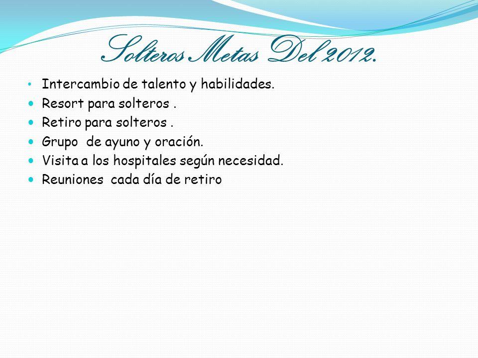 Solteros Metas Del 2012. Intercambio de talento y habilidades.