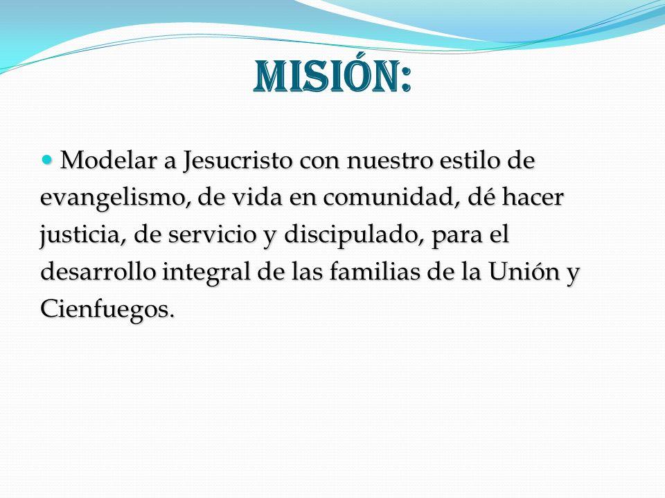 Misión: Modelar a Jesucristo con nuestro estilo de