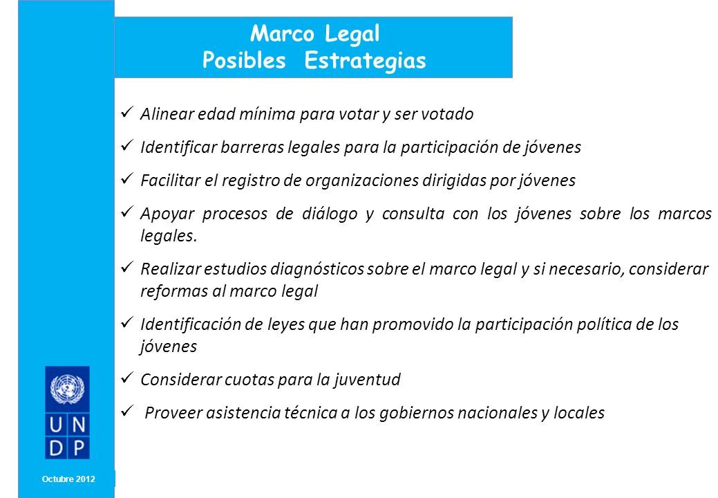 Marco Legal Posibles Estrategias