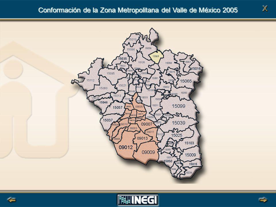 Conformación de la Zona Metropolitana del Valle de México 2005