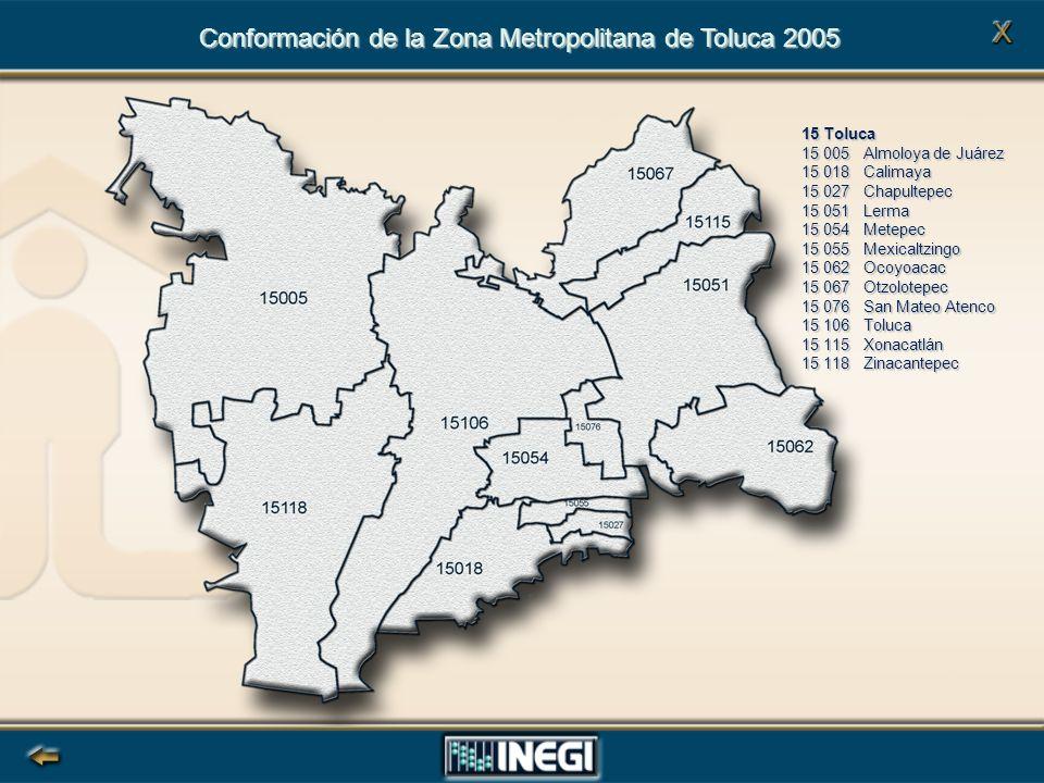 Conformación de la Zona Metropolitana de Toluca 2005