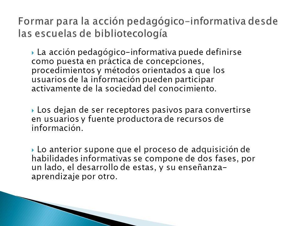 Formar para la acción pedagógico-informativa desde las escuelas de bibliotecología