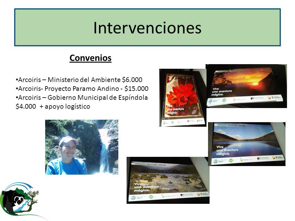 Intervenciones Convenios Arcoiris – Ministerio del Ambiente $6.000