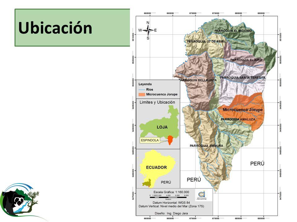 Ubicación Jorupe 1,4% dentro del PNY, Reserva de3 biosfera