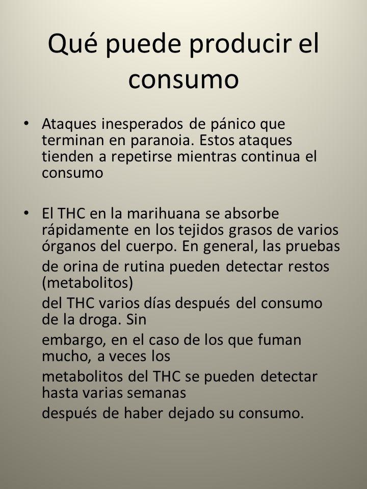 Qué puede producir el consumo