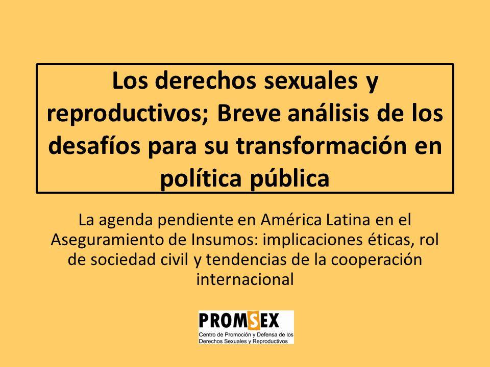Los derechos sexuales y reproductivos; Breve análisis de los desafíos para su transformación en política pública