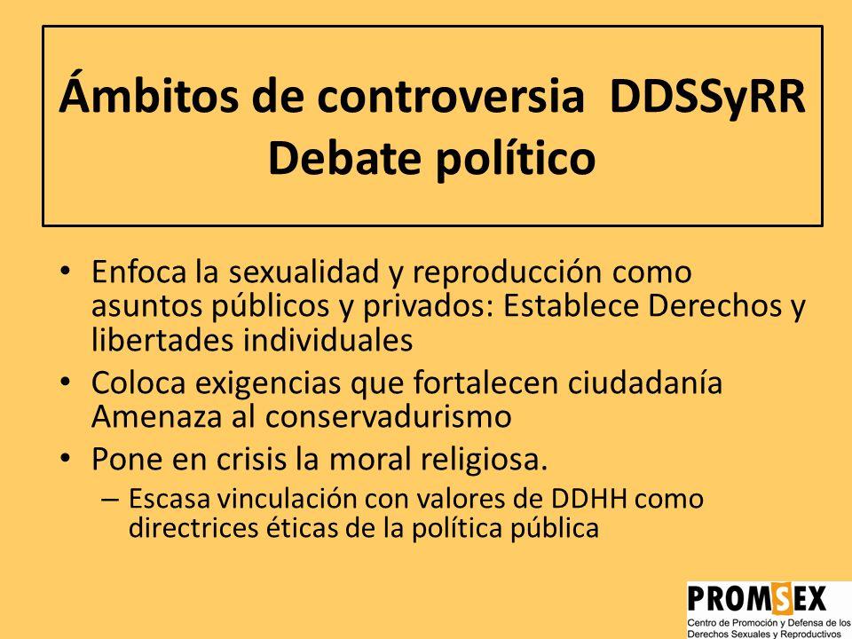 Ámbitos de controversia DDSSyRR Debate político