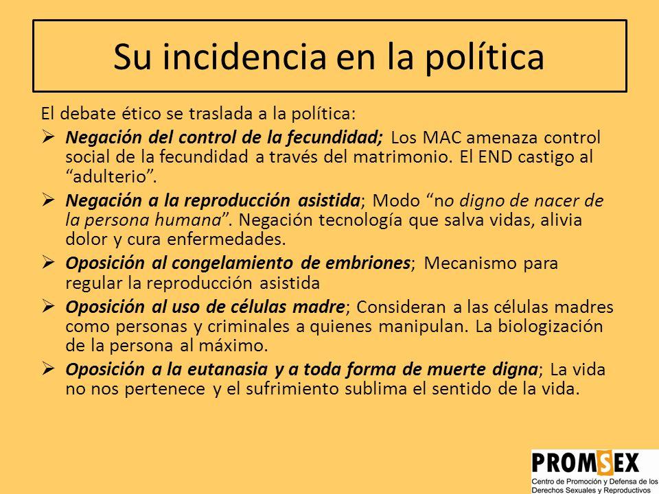 Su incidencia en la política