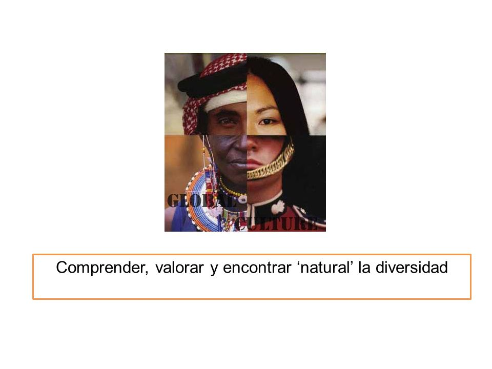Comprender, valorar y encontrar 'natural' la diversidad