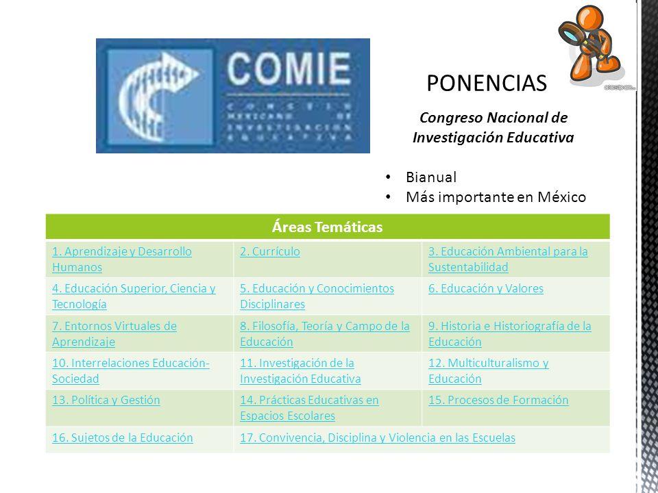 Congreso Nacional de Investigación Educativa