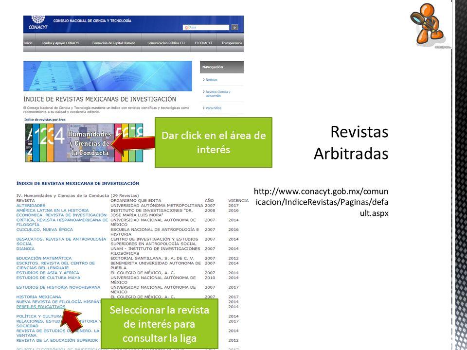 Revistas Arbitradas http://www. conacyt. gob