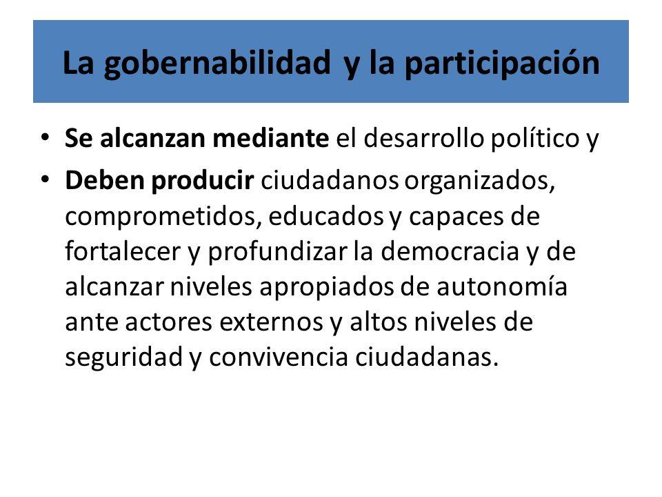 La gobernabilidad y la participación