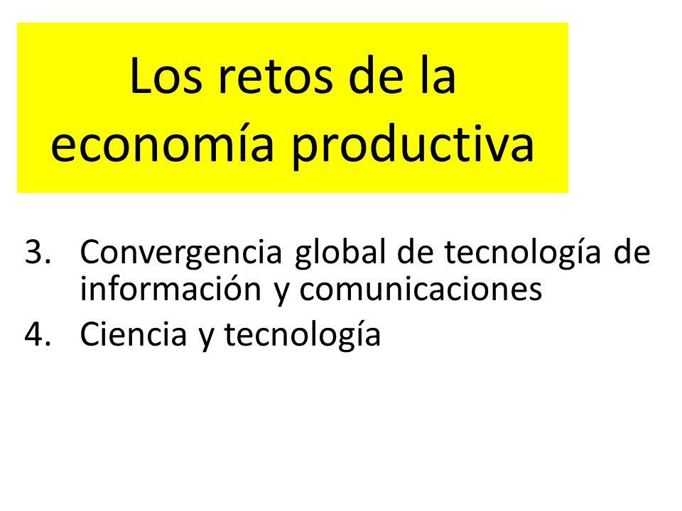 Los retos de la economía productiva