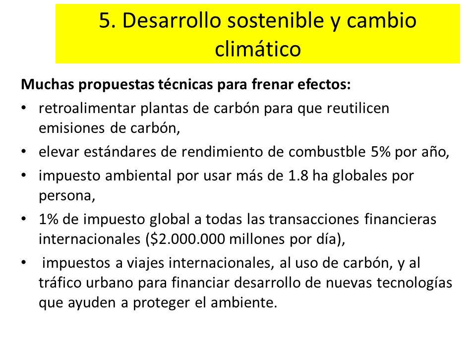 5. Desarrollo sostenible y cambio climático