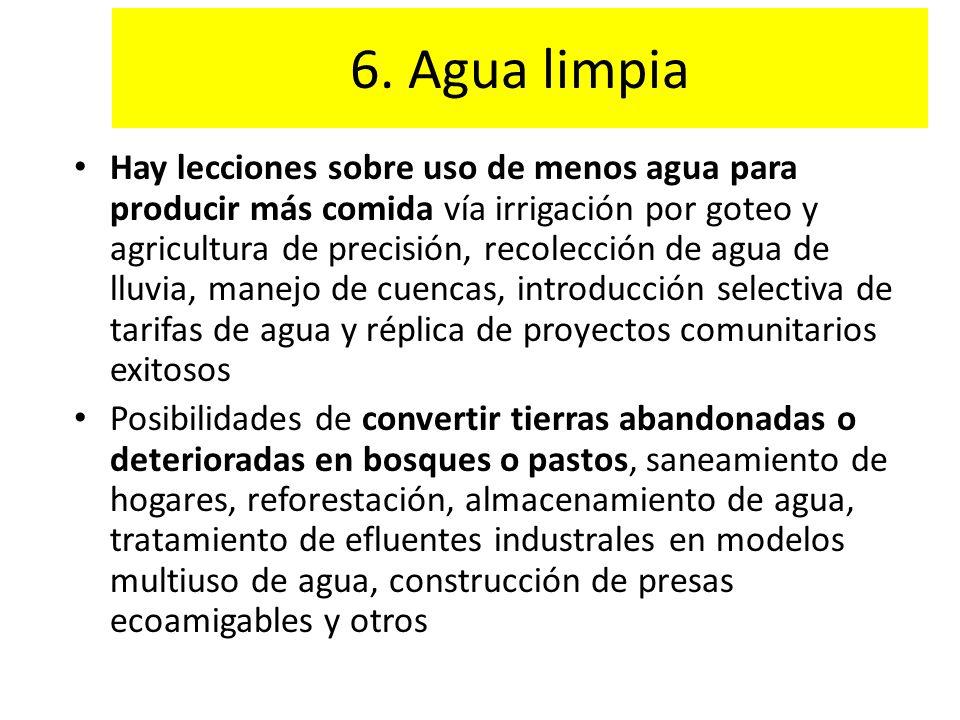 6. Agua limpia