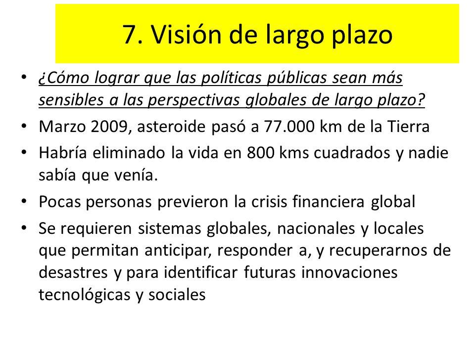 7. Visión de largo plazo ¿Cómo lograr que las políticas públicas sean más sensibles a las perspectivas globales de largo plazo