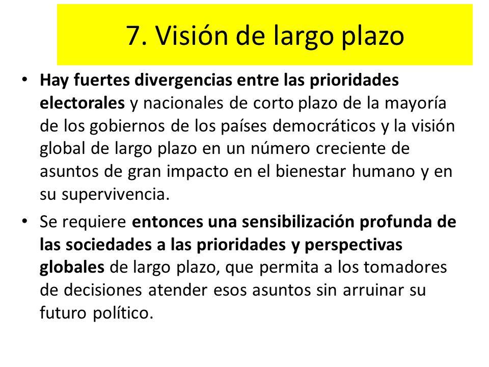 7. Visión de largo plazo