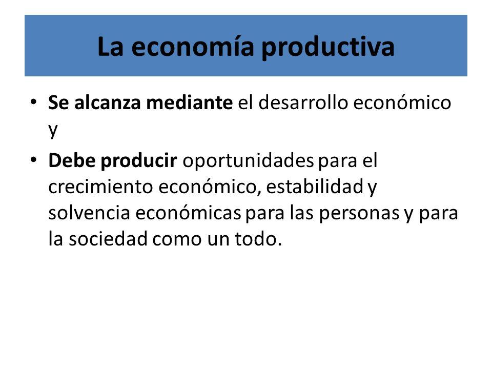 La economía productiva