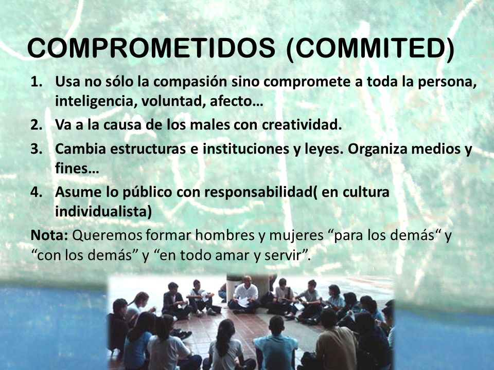 COMPROMETIDOS (COMMITED)