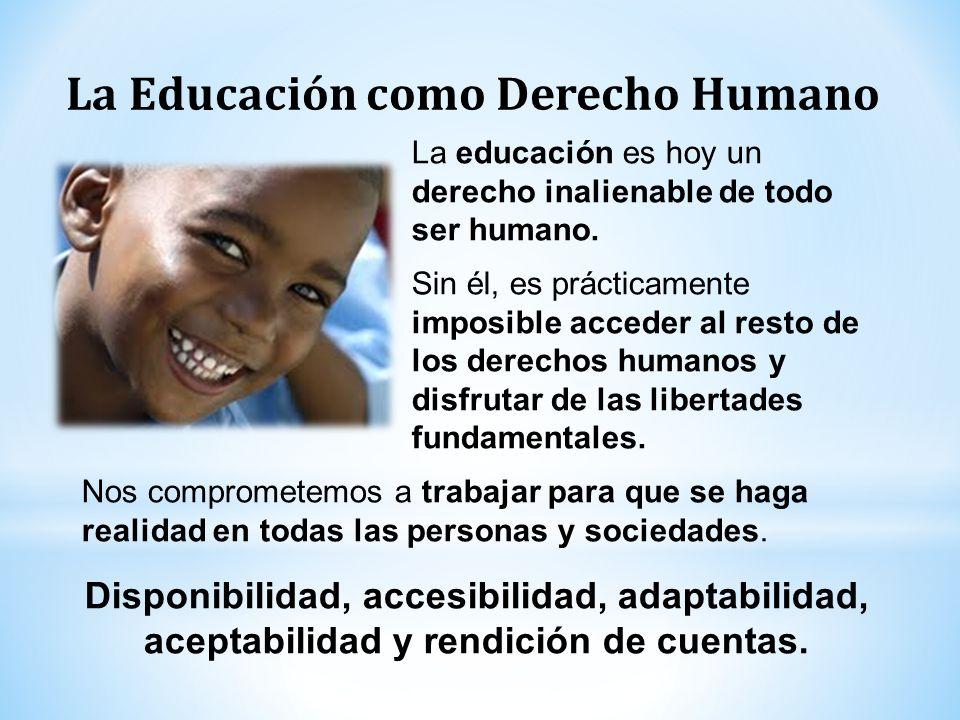 La Educación como Derecho Humano