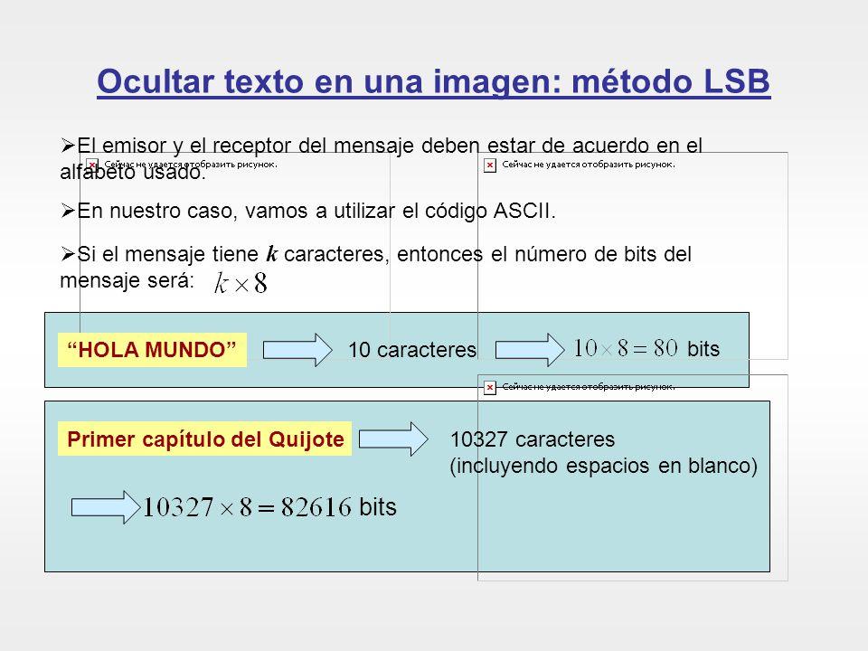Ocultar texto en una imagen: método LSB