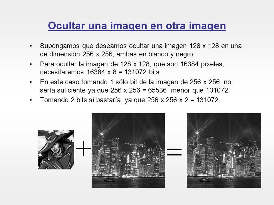 Ocultar una imagen en otra imagen