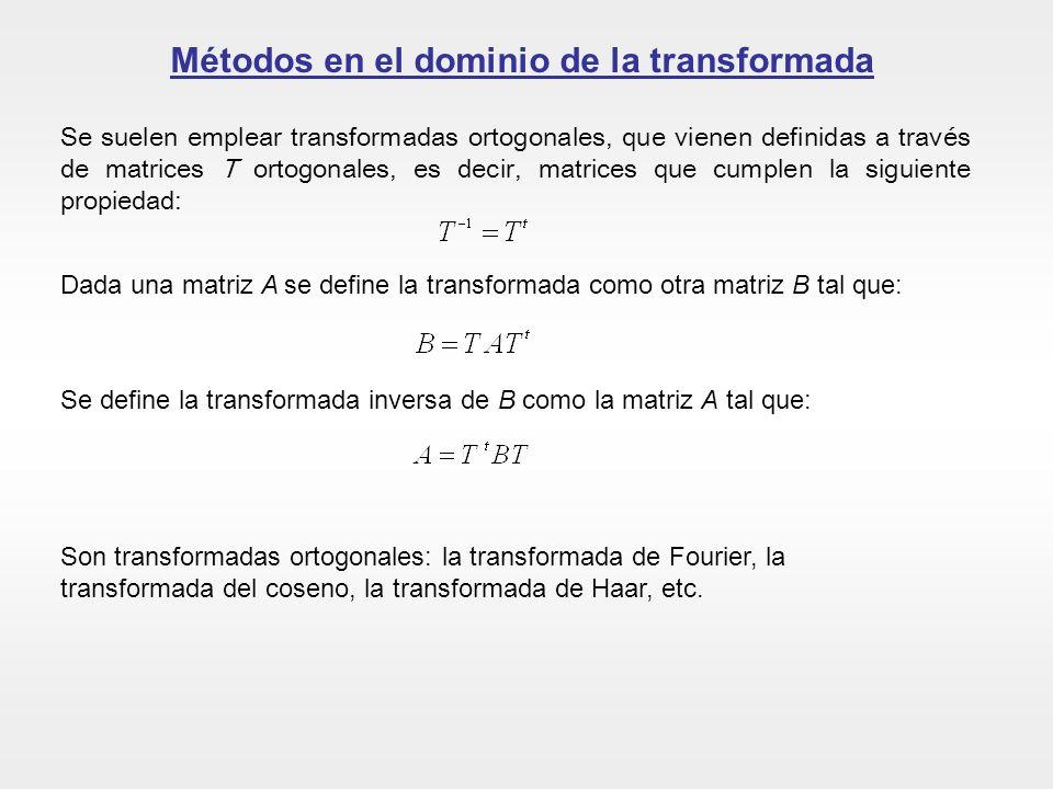 Métodos en el dominio de la transformada