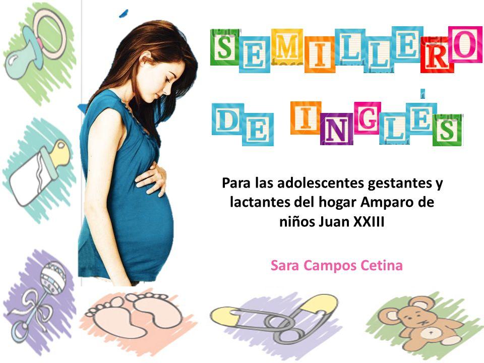 Para las adolescentes gestantes y lactantes del hogar Amparo de niños Juan XXIII