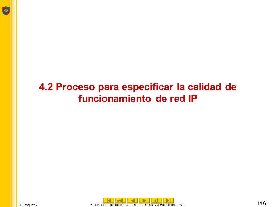 4.2 Proceso para especificar la calidad de funcionamiento de red IP