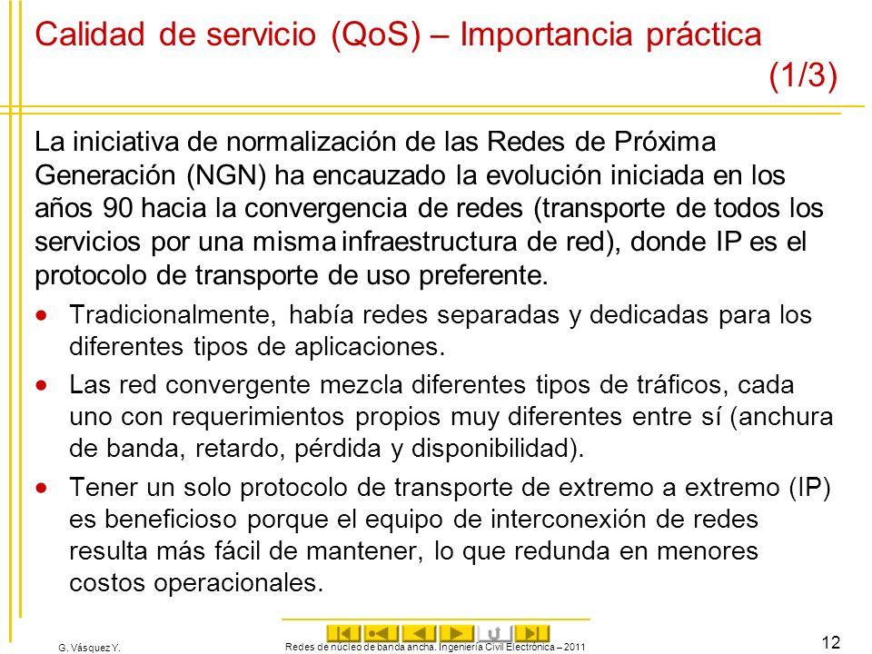 Calidad de servicio (QoS) – Importancia práctica (1/3)