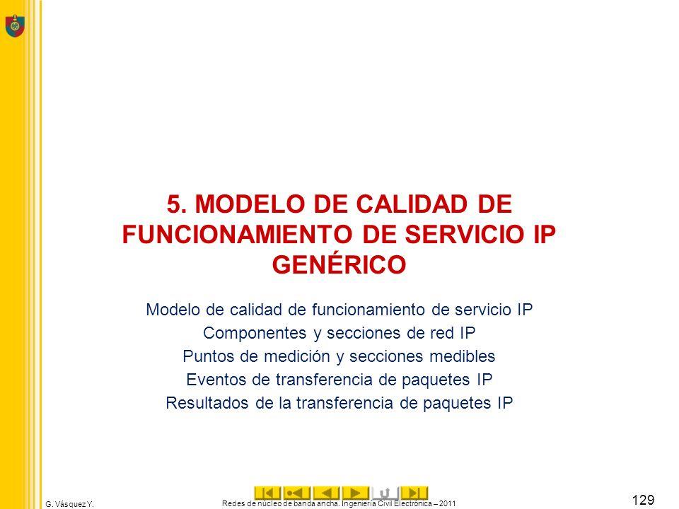 5. MODELO DE CALIDAD DE FUNCIONAMIENTO DE SERVICIO IP GENÉRICO