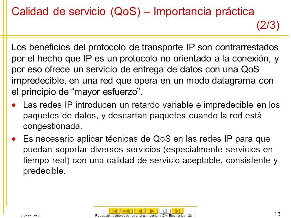 Calidad de servicio (QoS) – Importancia práctica (2/3)