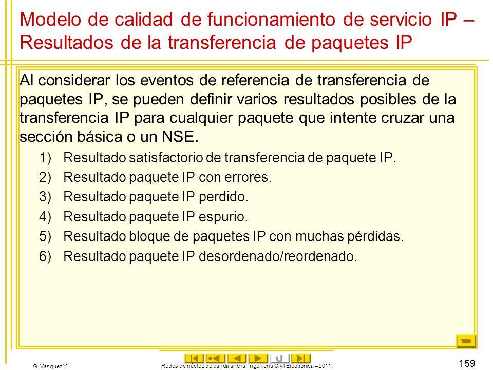 Redes de núcleo de banda ancha. Ingeniería Civil Electrónica – 2011