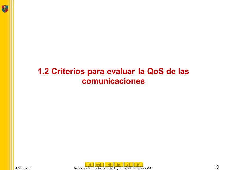 1.2 Criterios para evaluar la QoS de las comunicaciones