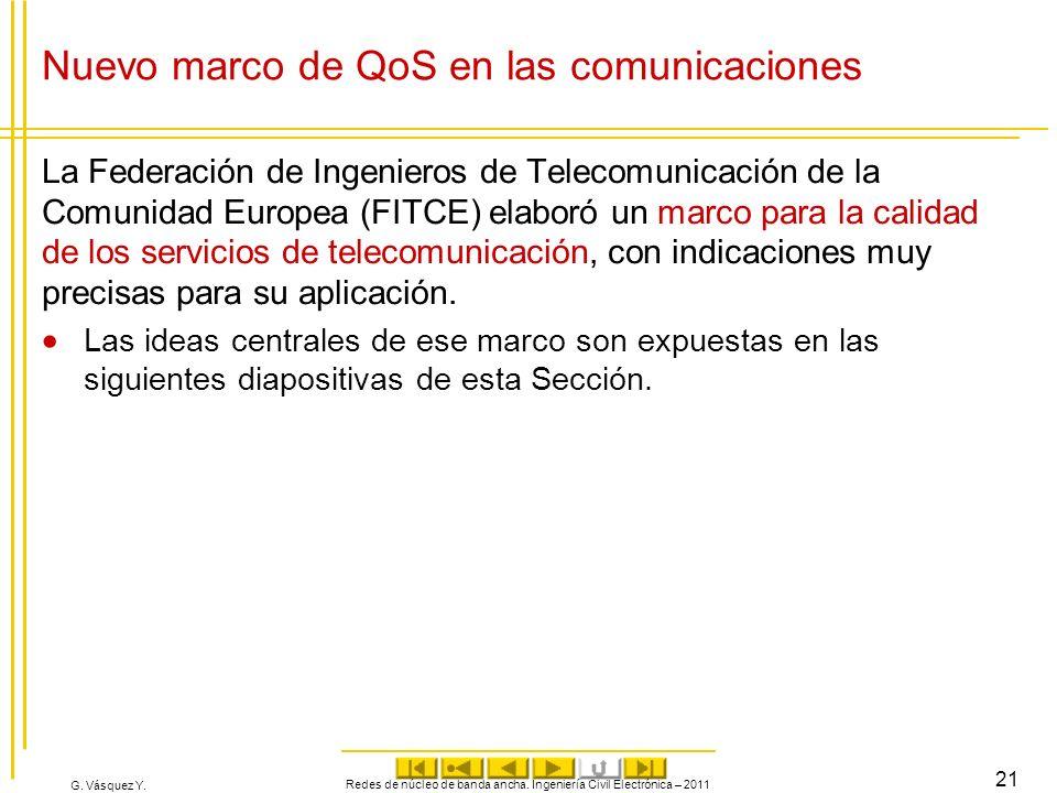 Nuevo marco de QoS en las comunicaciones