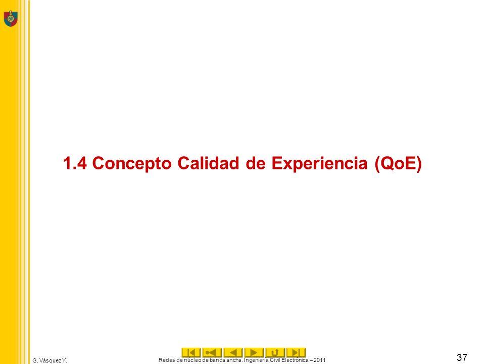 1.4 Concepto Calidad de Experiencia (QoE)