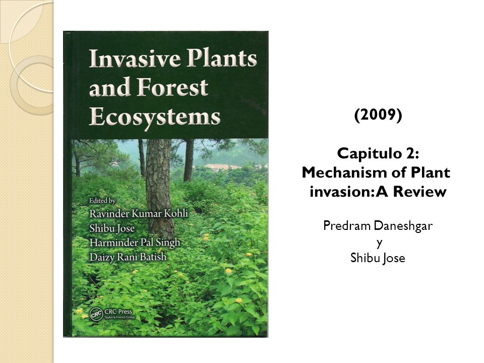 (2009) Capitulo 2: Mechanism of Plant invasion: A Review