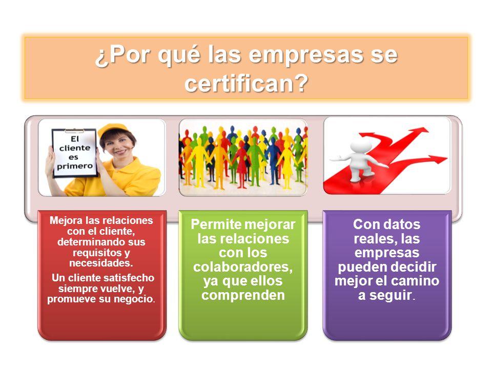 ¿Por qué las empresas se certifican