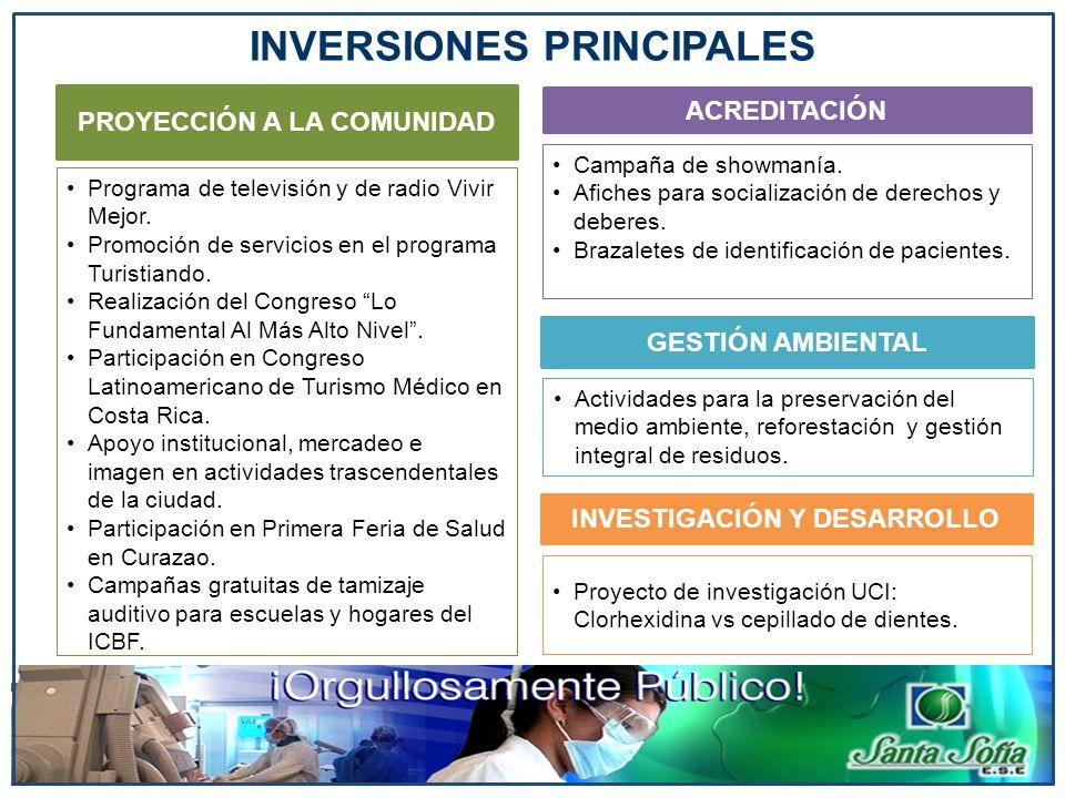 INVERSIONES PRINCIPALES
