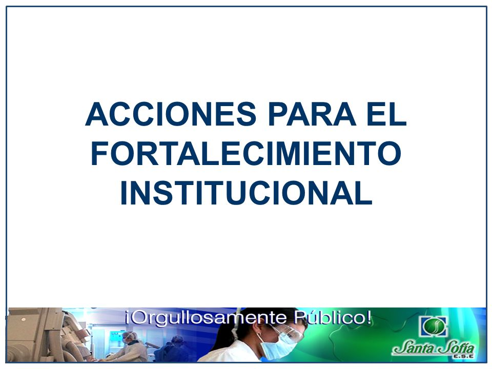 ACCIONES PARA EL FORTALECIMIENTO INSTITUCIONAL