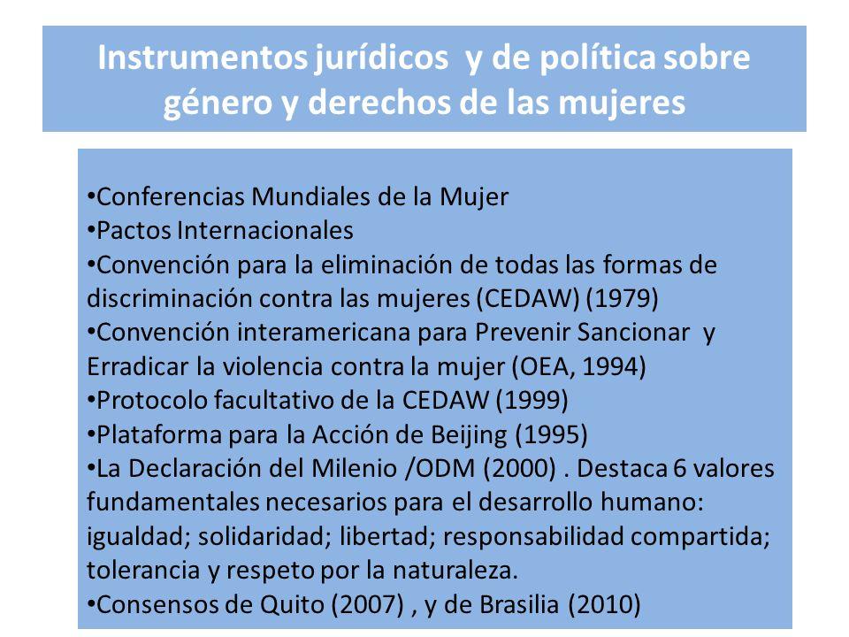 Instrumentos jurídicos y de política sobre género y derechos de las mujeres