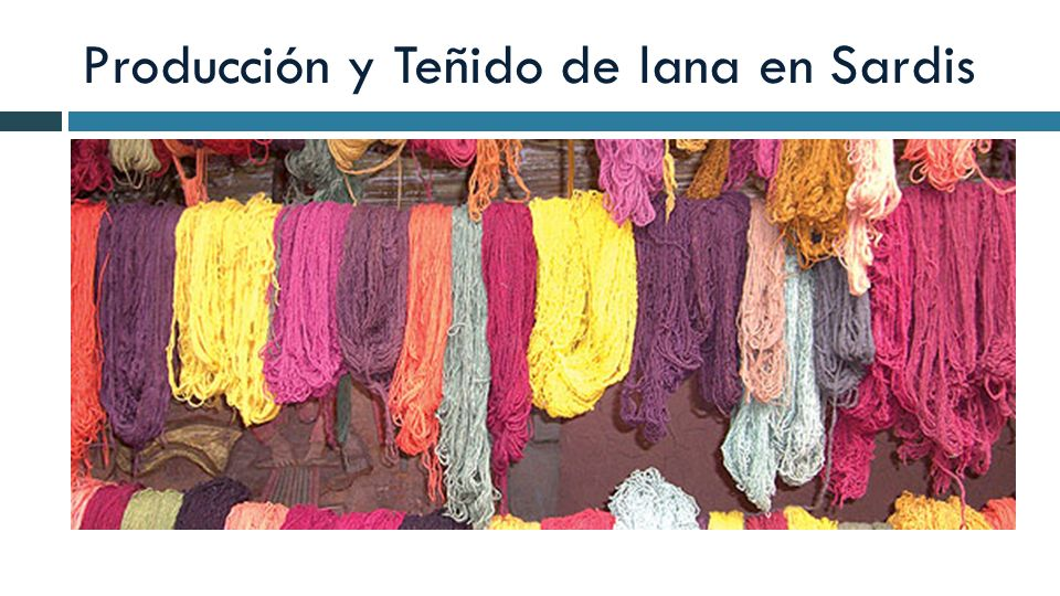 Producción y Teñido de lana en Sardis