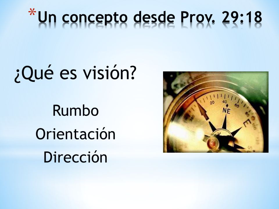 Un concepto desde Prov. 29:18