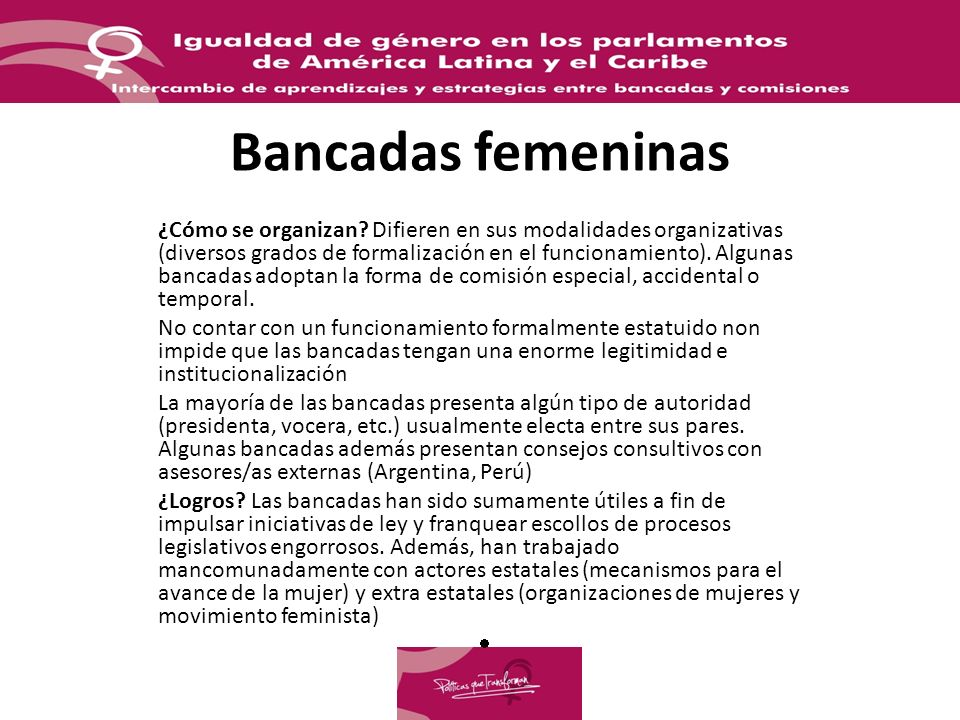 Bancadas femeninas