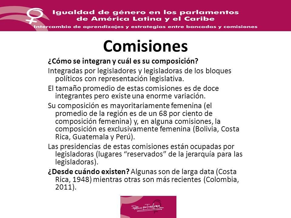 Comisiones ¿Cómo se integran y cuál es su composición