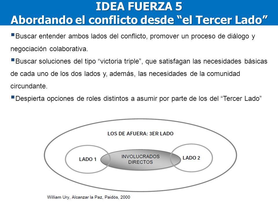 IDEA FUERZA 5 Abordando el conflicto desde el Tercer Lado