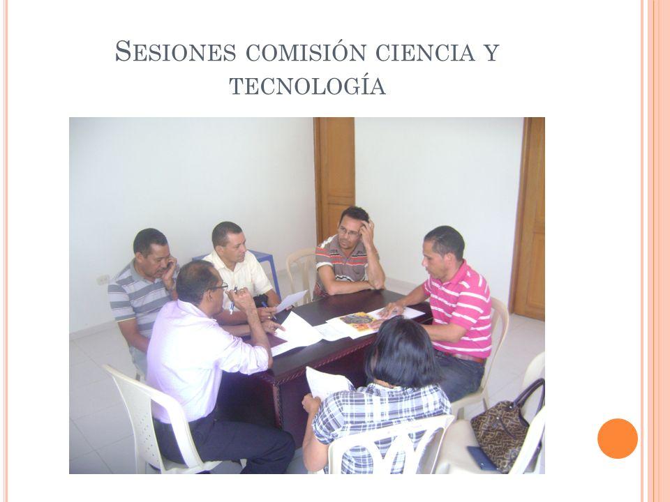 Sesiones comisión ciencia y tecnología