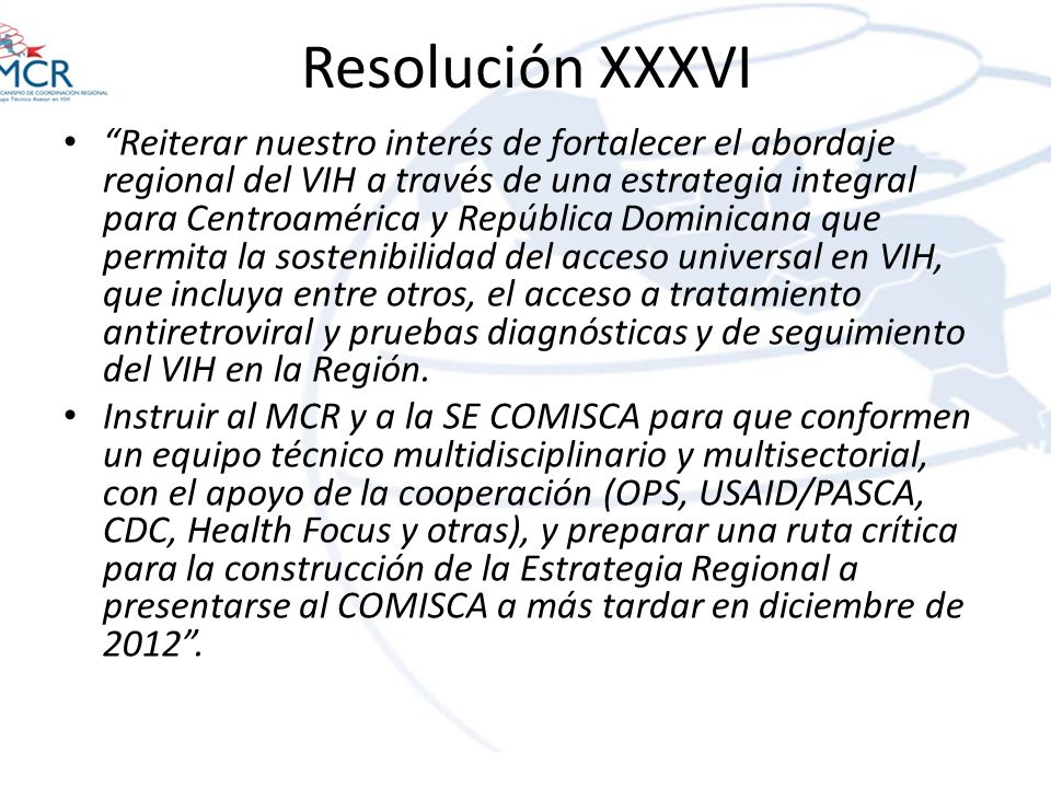 Resolución XXXVI